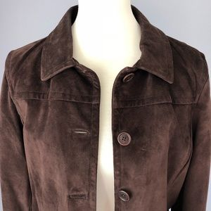 Coach Leather Suede Jacket Size Large